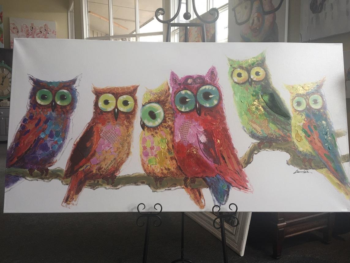 Quirky Art - Owls