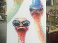 Quirky Art - Ostriches